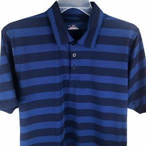 Under Armour Heat Gear Polo Shirt Large Blue Large